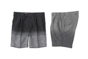 GRADETION GLEN CHECK WIDE SHORTS