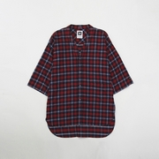 NO COLLAR FLANNEL SHIRTS JACKET