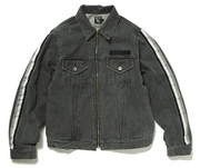 LINE DENIM ZIP JACKET