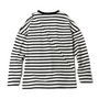 BIAS CUT STRIPE CREW写真2